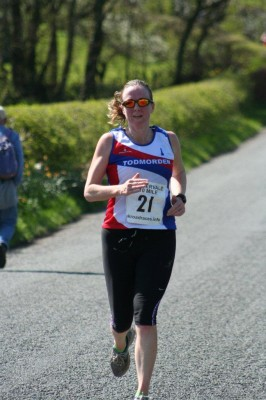 Mel Whitmore at the Caldervale 10