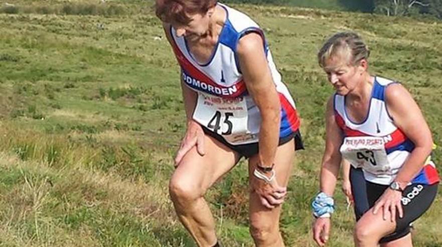 2014 Hodder Valley 45 Moyra Parfitt former English Champion 43 Mandy Goth Tod Harriers