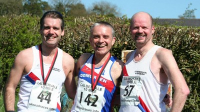Michael Harper, Robin Tuddenham and Paul Cruthers at the Caldervale 10