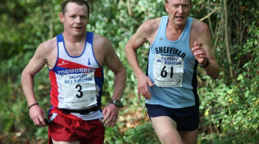 British Masters Half Marathon Championships Paul Brannigan Todmorden and Chris Ireland Sheffield eventual 3rd and 4th places in V50 IMG_4186 Web