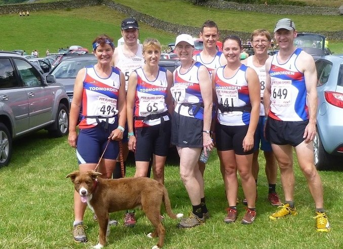 Tod Harriers Kentmere Horseshoe 2013 Sue Roberts, Dan Taylor, Mel Blackhurst, Kath Brierley, John Allan, Kirsty Patten, David Leslie, Jonothan Wright