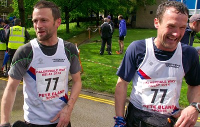 Paul Hobbs and Craig Stansfield happy to finish leg 2 after a strong run - gaining five places along the way