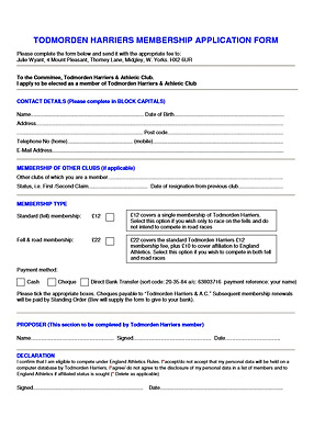 MEMBERSHIP APPLICATION FORM - click to open full PDF