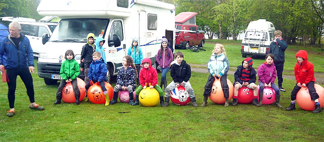 Kiddies Krypton Challenge Spacehopper Race at Coniston 2014