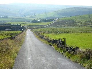 DESCENT TO BACUP ROAD FROM SOURHALL